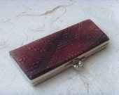 Vintage Soviet Handmade Leather Glasses Case Made in USSR in 1970s