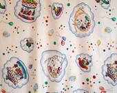 VIntage cotton fabric with clown/circus multicolour design