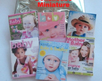 dollhouse baby  magazines x 6  dollhouse 12th scale miniature lakeland artist new