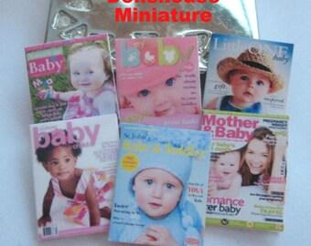 dollhouse baby  magazines x 6  dollhouse 12th scale miniature lakeland artist new