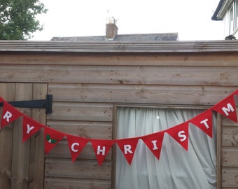 Merry Christmas Bunting-Banner- Home Decoration