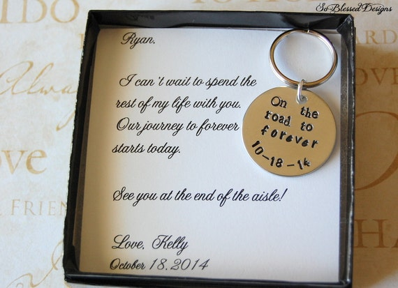 To GROOM From Bride Grooms Gift Wedding Gift By