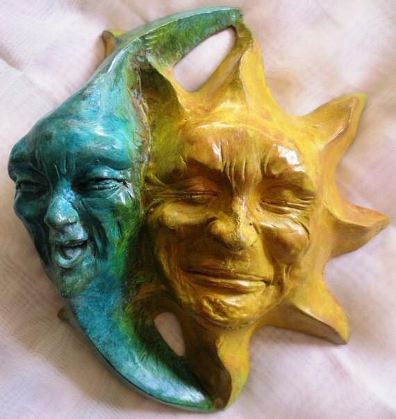 sun moon stone art