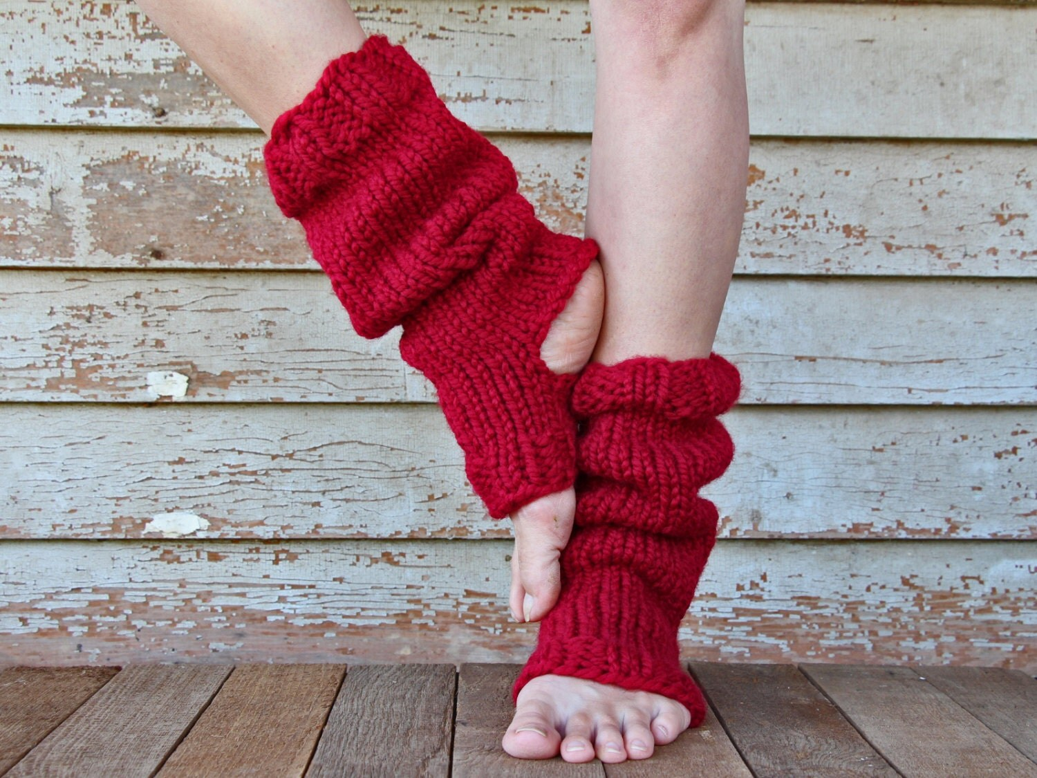 Yoga Leg Warmers Knitting Pattern : Yoga Sock Leg Warmer Knitting Pattern RELAXATION a set of