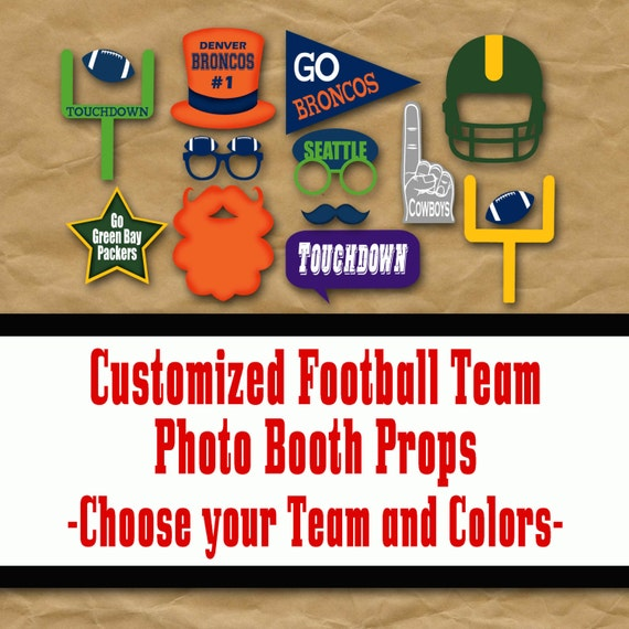 Choose Your Team Colors Football Printable Photo Booth Props