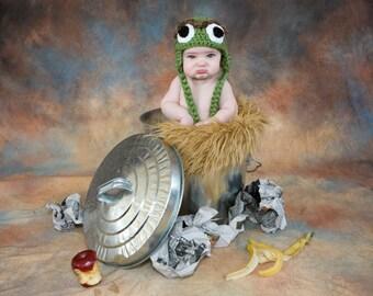 Oscar the Grouch Hat, Sesame Street, Oscar Grouch Baby, Toboggan, Kids, Toddler, Child, Oscar Costume, Toque, Oscar the Grouch