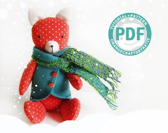 Fox toy / PDF sewing tutorial and patterns / for children