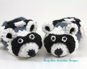 Little Raccoon Baby Booties