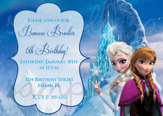 Frozen Olaf Invitations with best invitation design