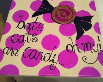 Bats Cats and Candy...Oh My canvas