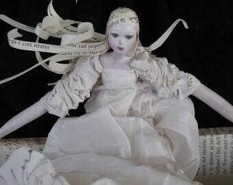 OOAK Collectible Ceramic Art Doll, Silvia