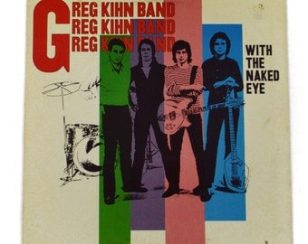 Vintage 70s Greg Kihn Band With The Naked Eye Album Record Vinyl LP