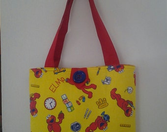 Learn With Elmo Inspired Young Girls Tote