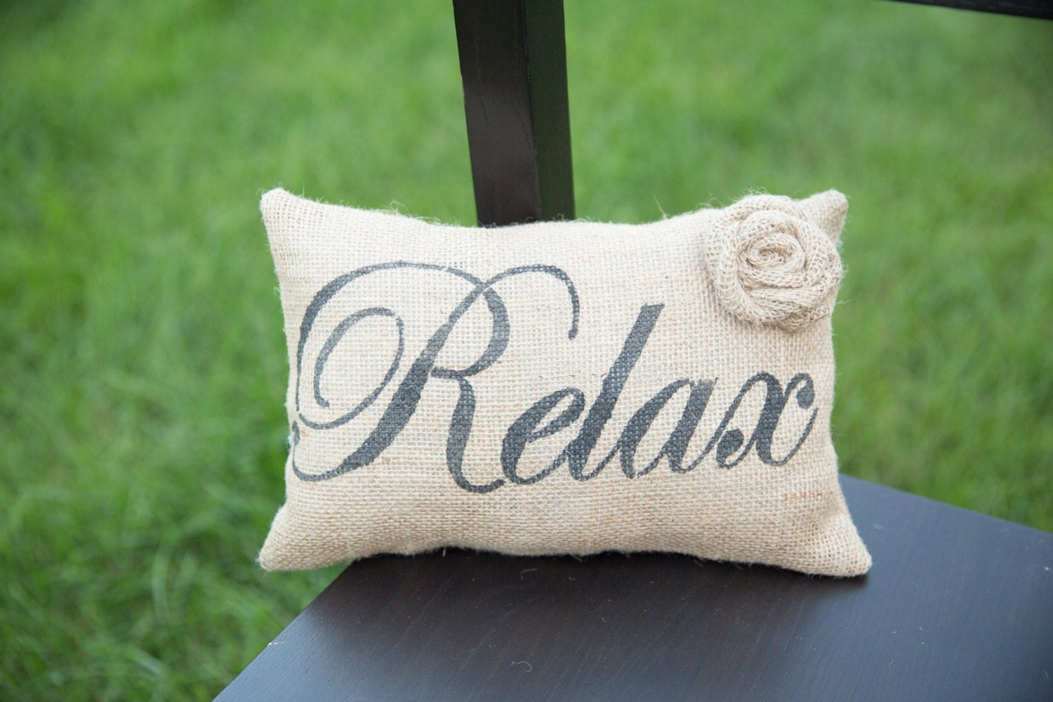 Relax Decorative Pillow Decor Pillow Simple Pillow burlap