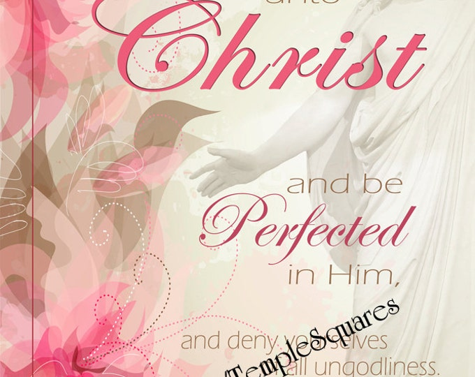 """YW Printable LARGE Poster downloadable file. 18""""x24""""  LDS Art Young Women 2014 Theme """"Come Unto Christ"""" - Floral-"""