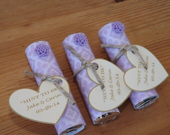 Mint to be Favors- Wedding, Bridal Shower Favors- Personalized Mint to Be Favors- Lavender-Set of 24
