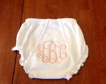 Personalized Diaper Cover-newborn gift-monogrammed diaper cover-girl diaper cover-cotton diaper cover