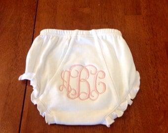 Personalized Diaper Cover-newborn gift-monogrammed diaper cover-girl diaper cover-cotton diaper cover