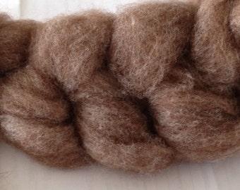Beautiful Alpaca Targhee Roving - Rose Grey