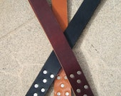 Spring Fling Item! BDSM Leather Spanking Paddle - The Riveted Strap