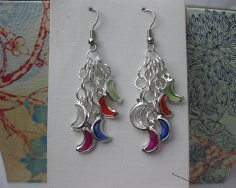 5 Moon Stainless Steel Earrings