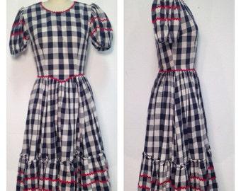 1960's Checkered Squaw Dress