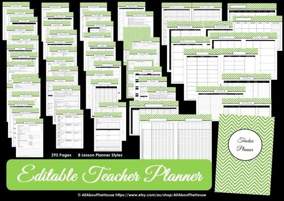 black editable teacher planner printable school homeschool lesson
