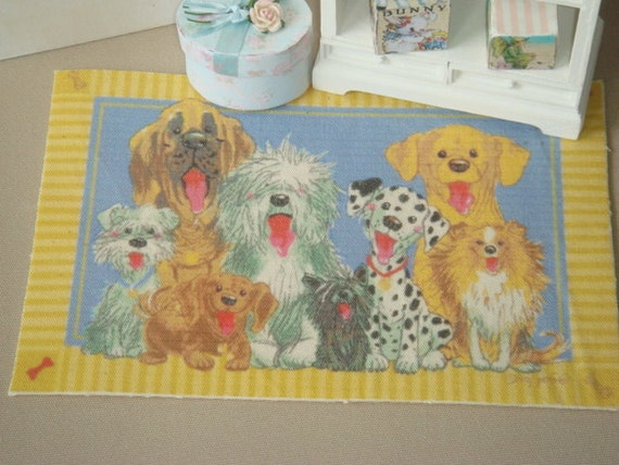 dollhouse funny dogs rug 1 12 dollhouse miniature rugs and carpets