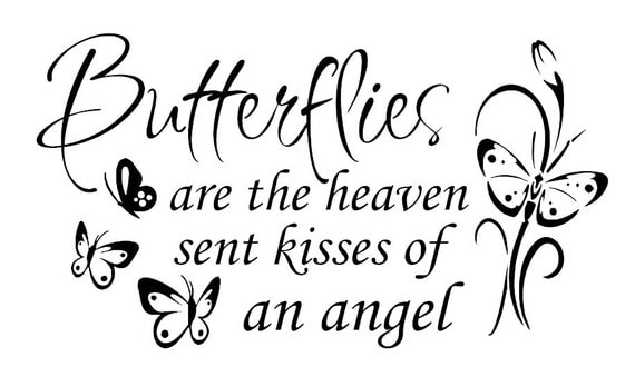 Items Similar To Wall Saying Quot Butterflies Are The Heaven