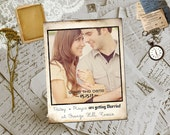 """Wedding Save The Date Magnets - BronzeHill Vintage Photo Personalized 4.25""""x5.5"""""""