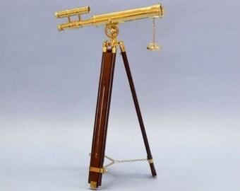 """45"""" Floor Standing Brass Telescope"""
