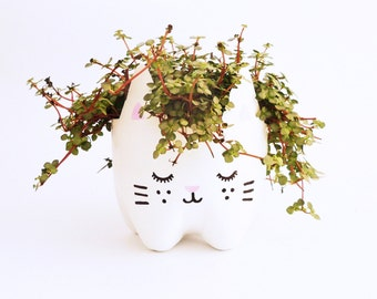 Eco-Kitty Plant Pot/ Recycled plastic from bottles