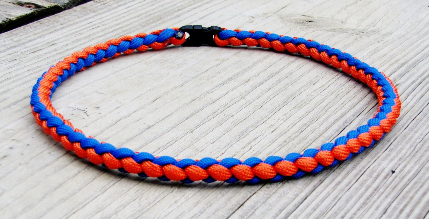 paracord sports braided necklace or by