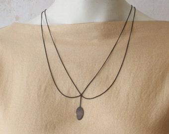 Halskette Silber 925 Sterling: BLOSSOM II - Kette aus Sterling Silber oder geschwärztem Sterling Silber