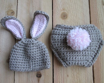 newborn bunny outfit, bunny hat, easter photo prop, bunny outfit, bunny costume, tan bunny