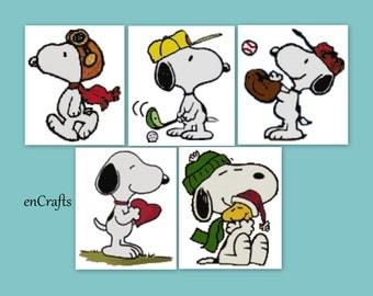 Snoopy 5 Cross Stitch Patterns