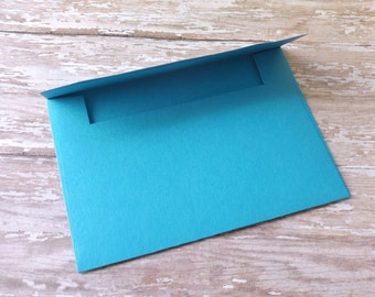 4x6 (A6) Solid Aqua Blue Envelopes-Mailable-Set of 10-Birthdays, Showers, Weddings, Parties