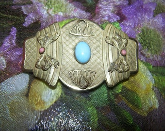 Unique Large Vintage Sash Brooch Pin