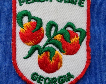 Peach State Georgia Vintage Travel Patch by Voyager