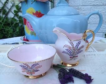 Vintage Tuscan Creamer Set of milk jug and sugar bowl MS043