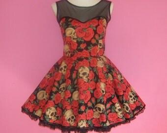 Sew Passionate...Skulls n Roses Goth Lolita Prom Dress by Sew Angelic UK
