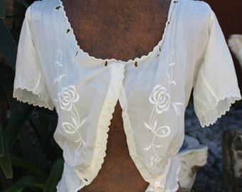 Antique Silk Cami Blouse Embroidered