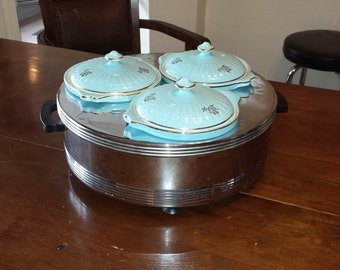 Buffet Master Server with 3 Bowls