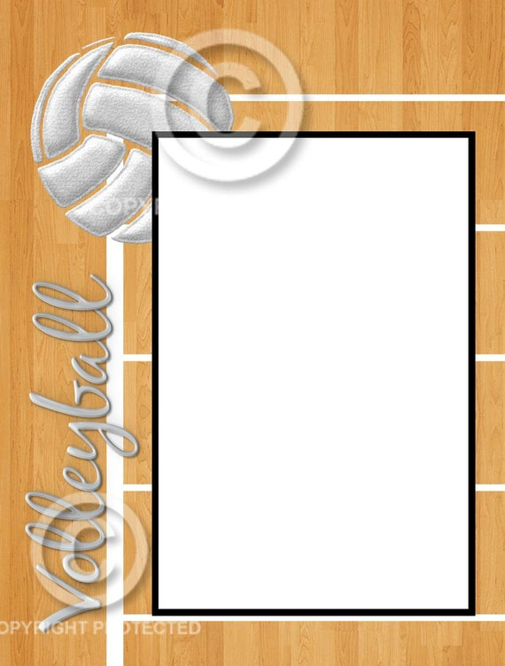 items similar to 8x6 volleyball woodfloor picture frame