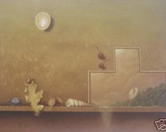 """Michel Charpentier """"Paysage en Etagere"""" original lithograph"""