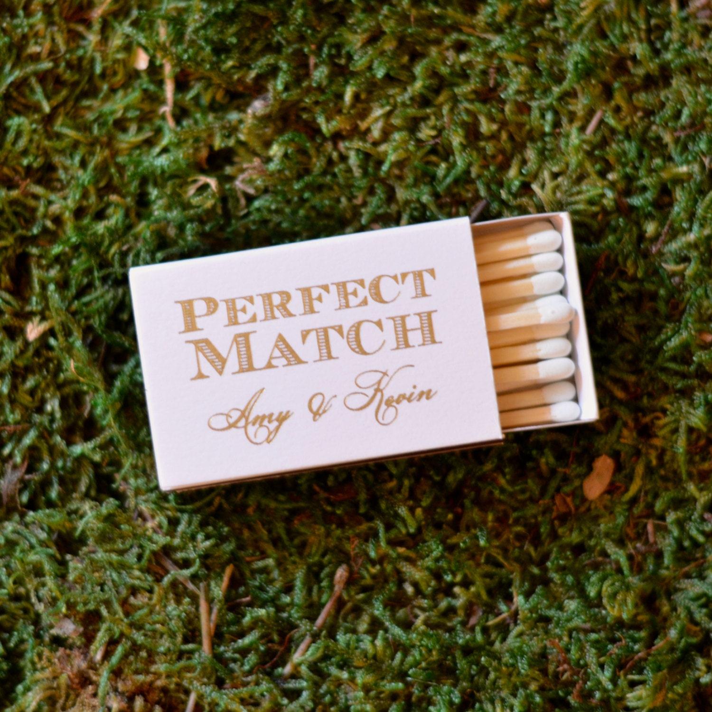 Personalized Perfect Match Wedding Matches Custom