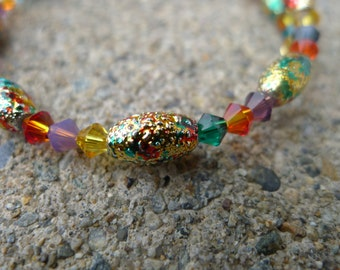 Swarovski Beaded Memory Wire Bracelet