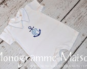 Baby Boy Coming Home Outfit - Baby Gift - Newborn Boy Coming Home Outfit - Boy Baptism Outfit - Boy Christening Outfit - Short Romper - Pima
