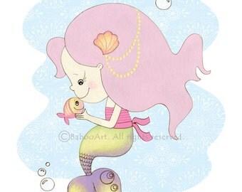 Mermaid nursery, Nautical girl nursery, Mermaid nursery art, Underwater nursery, Baby girl nursery wall art, wall art kids