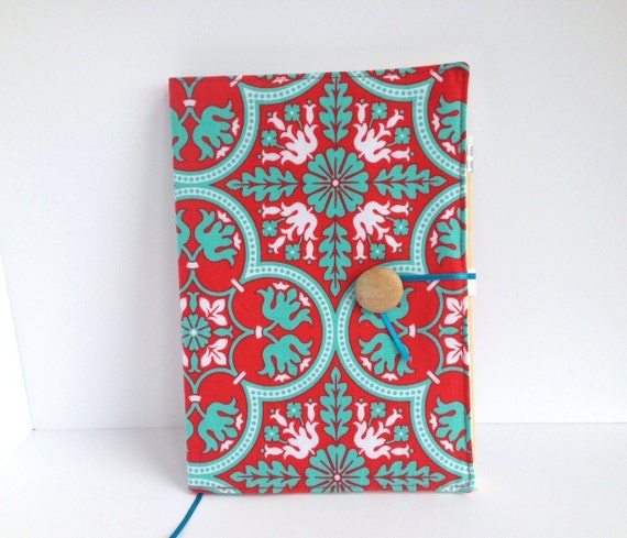 Reusable Fabric Book Cover ~ Items similar to fabric covered notebook reusable book
